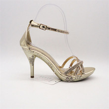 new design bronze high heel shoes