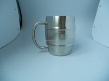 China product double wall stainless steel tankard/beer cup stainless steel coffee cup
