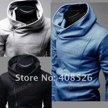 Men fashion Sportswear high collar hoodies man cloth jacket classic zip hoodie sweatshirt outerwear 3406