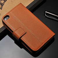 Latest mobile phone accessory of smart multifunction phone case for Iphone4 4S made of high quality PU leather embody good taste