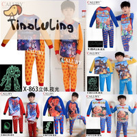 New design glow in the dark children clothes cheap china wholesale kids clothing