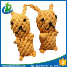 Innovative cotton rope dog grooming