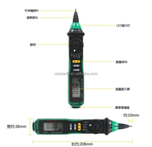 MASTECH MS8211D Pen Type Meter Auto Range Digital Multimeter Non-contact AC/DC Voltage Detector With Test Clip