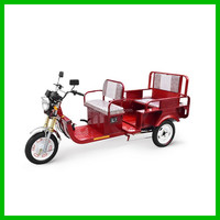 Battery Powered Electric Auto Rickshaw with Folding Backseat