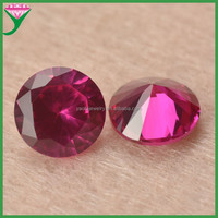 hot sales jewelry gemstones round brilliant cut 5 # synthetic ruby red corundum