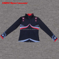 2015 custom girls spandex fleece varsity jacket