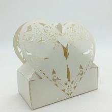 2015 Laser Cut Paper White Love Birds Heart Irregular Shape sweet box,Chocolate packaging box,European candy box wholesale