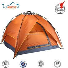 201D oxford fabric with silver coated automatic outdoor camping tent