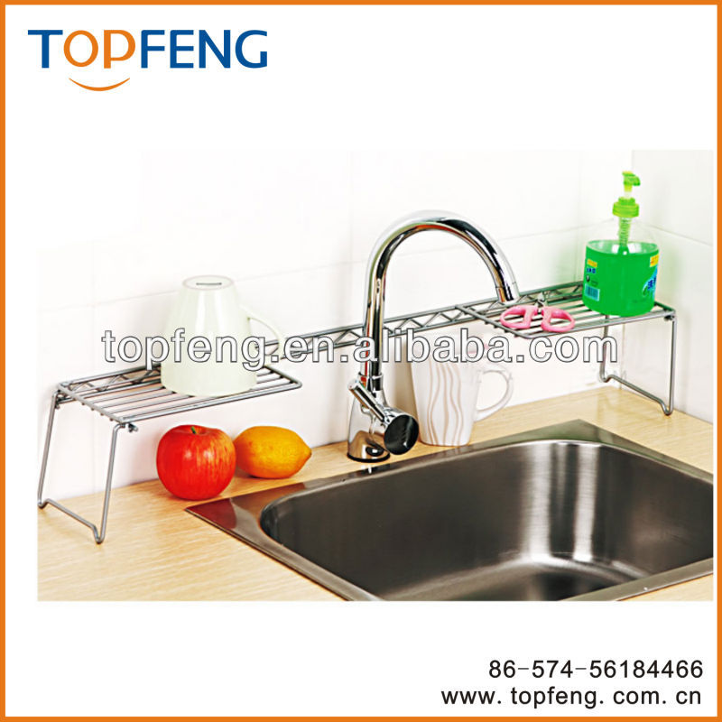 Expandable Over The Sink Shelf Kitchen Shelf View Over The Sink Shelf Topfeng Product