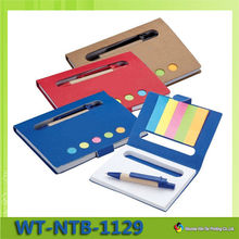 WT-NTB-1129 Eco-friendly agenda with pen