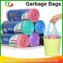 Plastic PE t shirt trash/garbage bags of high quality with factory price