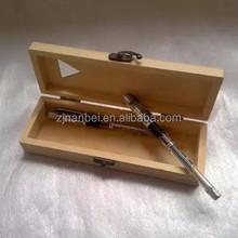 Accept custom hinge lid wooden pen box,wood pencil boxes