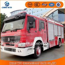 4*2 8000L howo rescue fire truck, howo water tank fire truck, inflatable fire truck