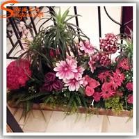 Customized decorative artificial cheap wholesale yiwu flower in bangkok arrangements