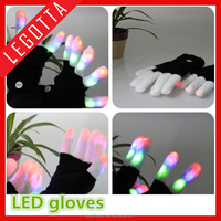 China manufacture high quality light gloves creative led flashing gloves glowing in the dark