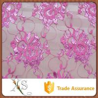 China Supplier Elegant Young Lady Dress Nylon Lace Fabric