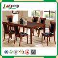 6 barato de madera mesa de comedor y silla