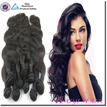 Best Quality !!! One Donor Double Weft Unprocessed Body Wave Virgin Eurasian Hair Extension