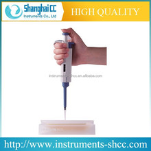 Single-channel Pipette with Tip Ejector for Convenient One-handed Operation