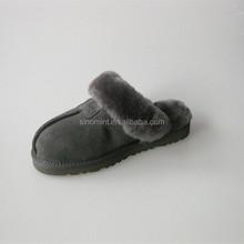 100% Austrlia sheepskin women merino wool slippers