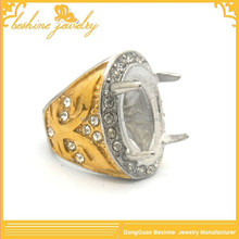 Alibaba New Stock Gold Gemstone Ring Design Mens