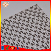 PVC woven mesh fabric backing polyester waterproof fabric