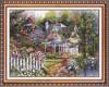 garden beside cottage diamond embroidery diy crystal diamond painting