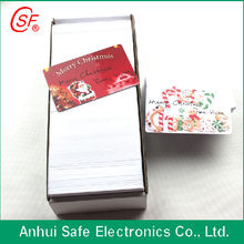 waterproof and glossy clear business plastic card