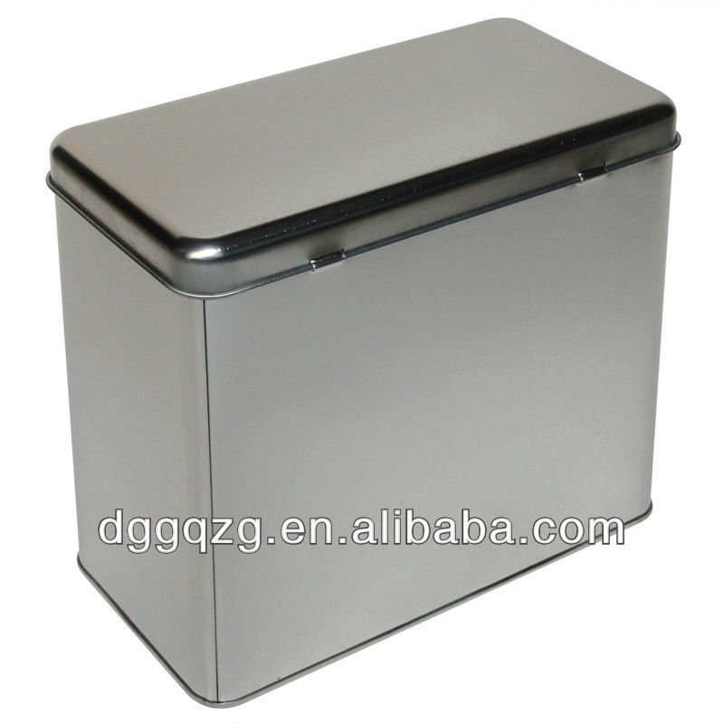 Rectangular Metal Boxes With Hinged Lids View Metal Boxes