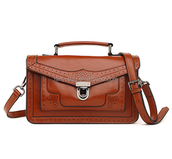 2015 new vintage genuine leather messenger bag, women messenger bag