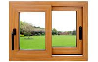 Wood Color Aluminum Sliding Window Frame home designs