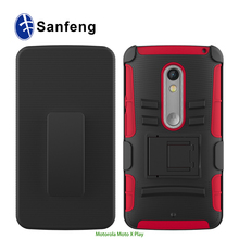 Hot sale newest combo cell phone case for motorola x style x pure X play X3 XT1585 Droid Kinzie mobilephone cover