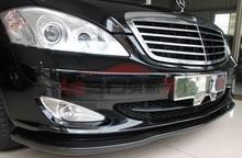 07-09 Mercedes S Class W221 4Dr L1 Carbon Fiber Front Lip(Fit AMG Or Sport Bumper)