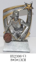 hot selling beautiful resin basketball trophy