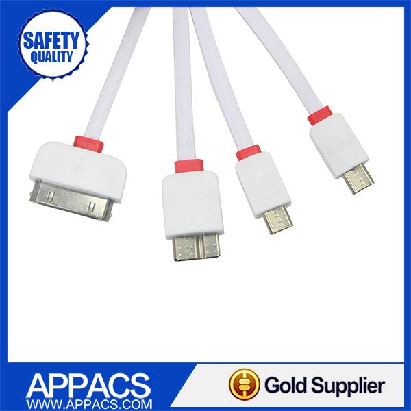 4 в 1 универсальный нескольких USB кабель для зарядки для iphone Samsung сотовый телефон Nokia LG HTC