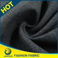 Professional knit fabric manufacturer for blanket Spandex double sided wool fabric