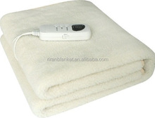 Synthetic Wool Super soft Electric heated Blanket