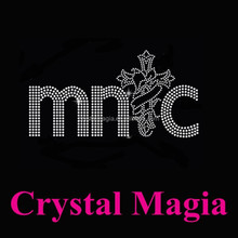 MNC crystal iron on patches, cross hotfix rhinestone transfer on sale