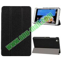 Ultrathin Silk Texture 3 Folio Leather Case for Samsung Galaxy Tab Pro 8.4 with Stand