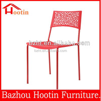 Modern low price plastic chairs with back flower for outdoor