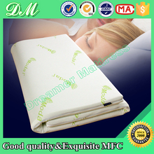 High quality bamboo cover pure natural thailand import latex mattress