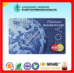 ISO PVC Visa Card Size With Hico Magnetic Smart Card 4C Color CMYK Print Customized Printing Visa Master Card 23years Factory