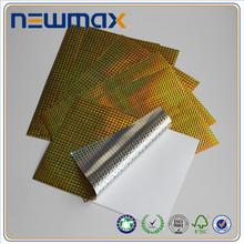 Custom high glossy laser sticker paper 3d sticker
