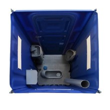 composting portable plastic squat toilet