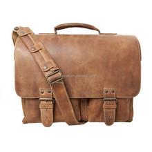 first leather shoulder messenge bag for laptop
