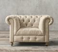 petite kensington lugares um sofá estofado com botões