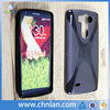 8 color for choice soft X line design rubber silicone skin gel tpu phone cases For LG G3 mini