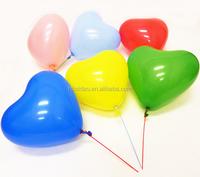 pearlized heart ballon/ high quality metalic heart balloon