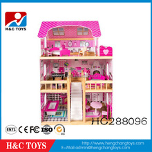 New style Hot Sale Wooden Toy DIY Doll House For Girls HC288096