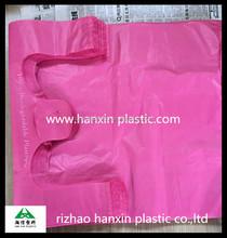 100% biodegradable plastic shopping bags/T-shirt bags for supermarkt